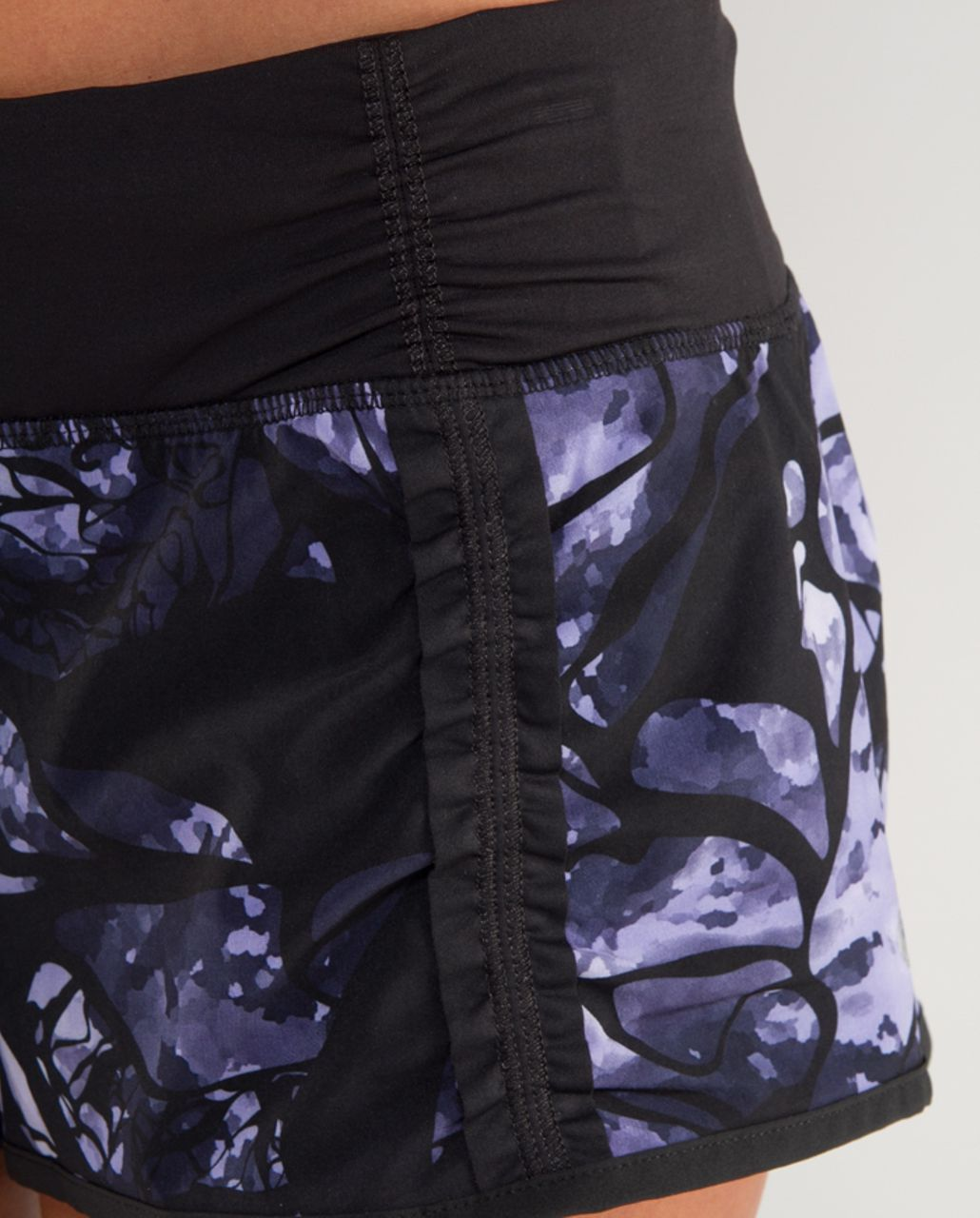 Lululemon Run:  Your Heart Out Short - Black Swan Creekside Camo /  Black