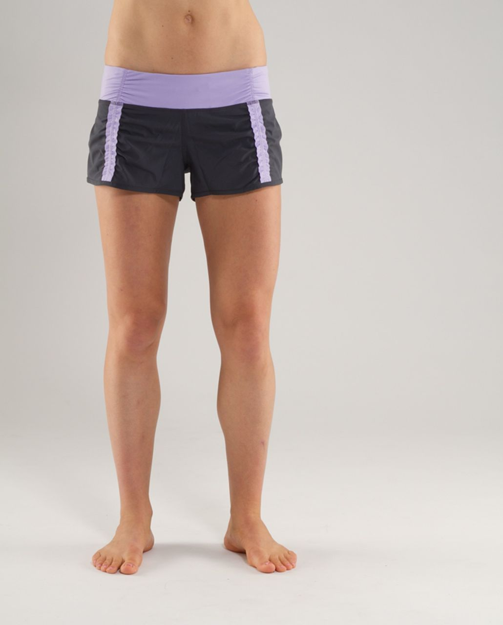 Lululemon Run:  Your Heart Out Short - Coal /  Lilac Heathered Coal Wee Stripe /  Lilac