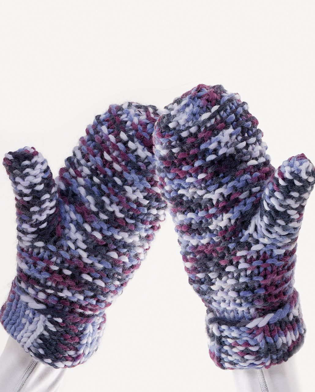 Lululemon Toasty Mitts - Black Swan Lilac Persian Purple Plum Space Dye