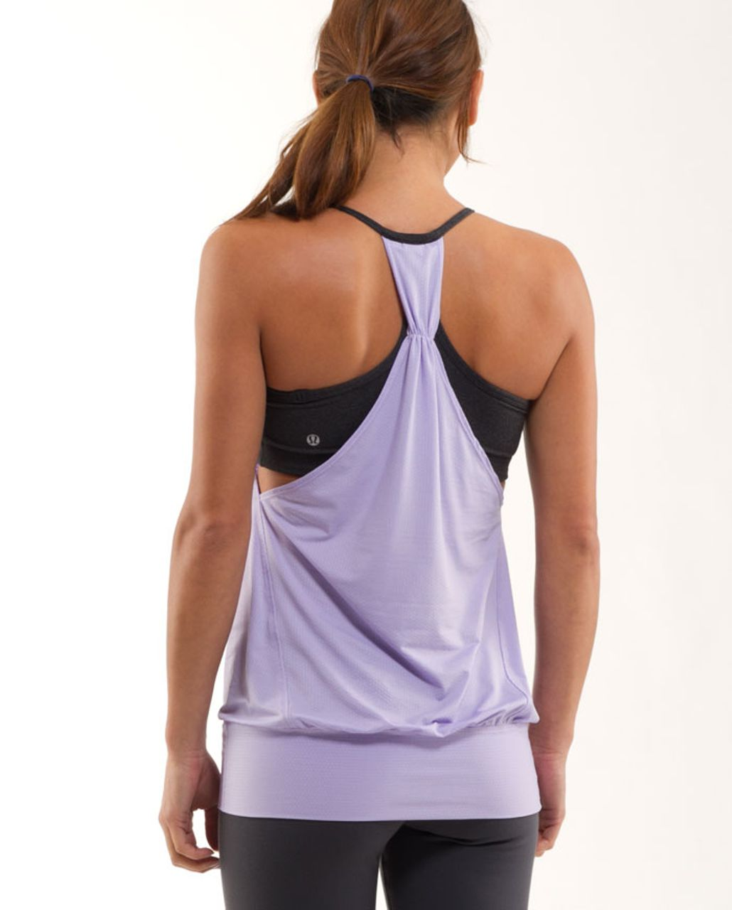 b3d51a5ed98 Lululemon No Limit Tank - Ivory / Classic Sport Grey / Lolo Purple - lulu  fanatics