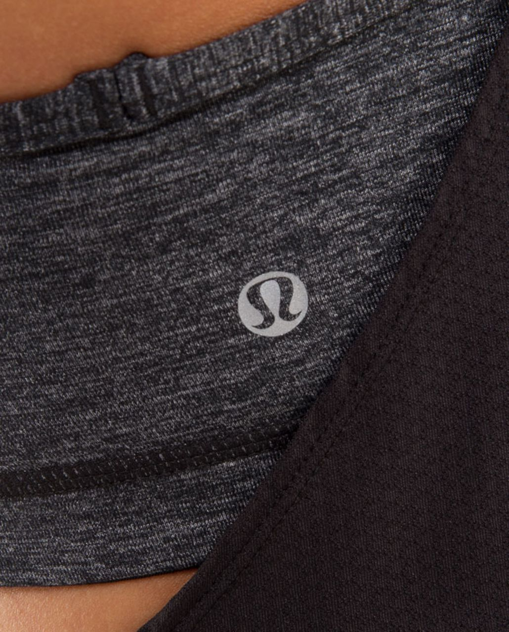 Lululemon No Limit Tank - Charcoal /  White Pinstripe