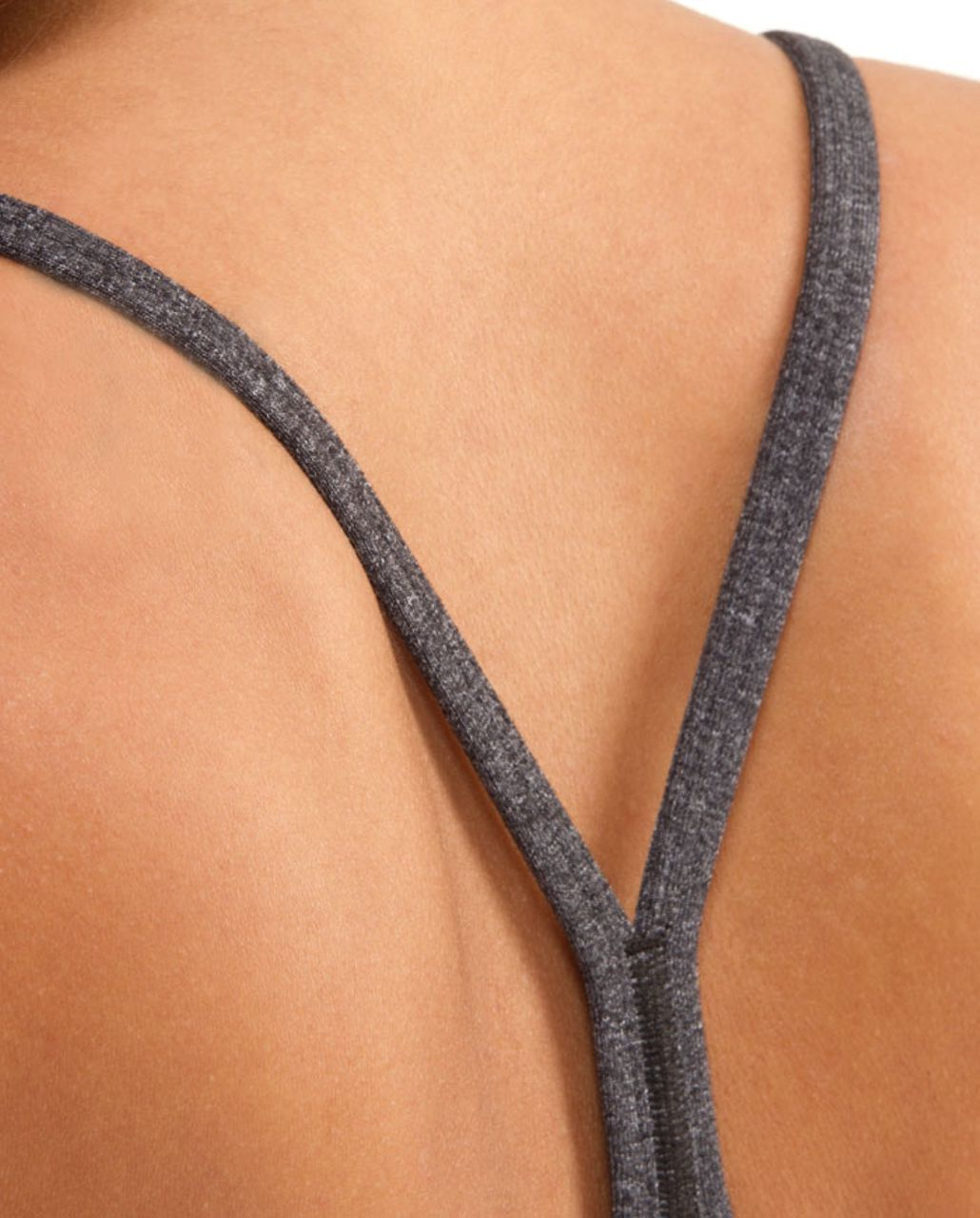 Lululemon Power Y Tank - Heathered Black