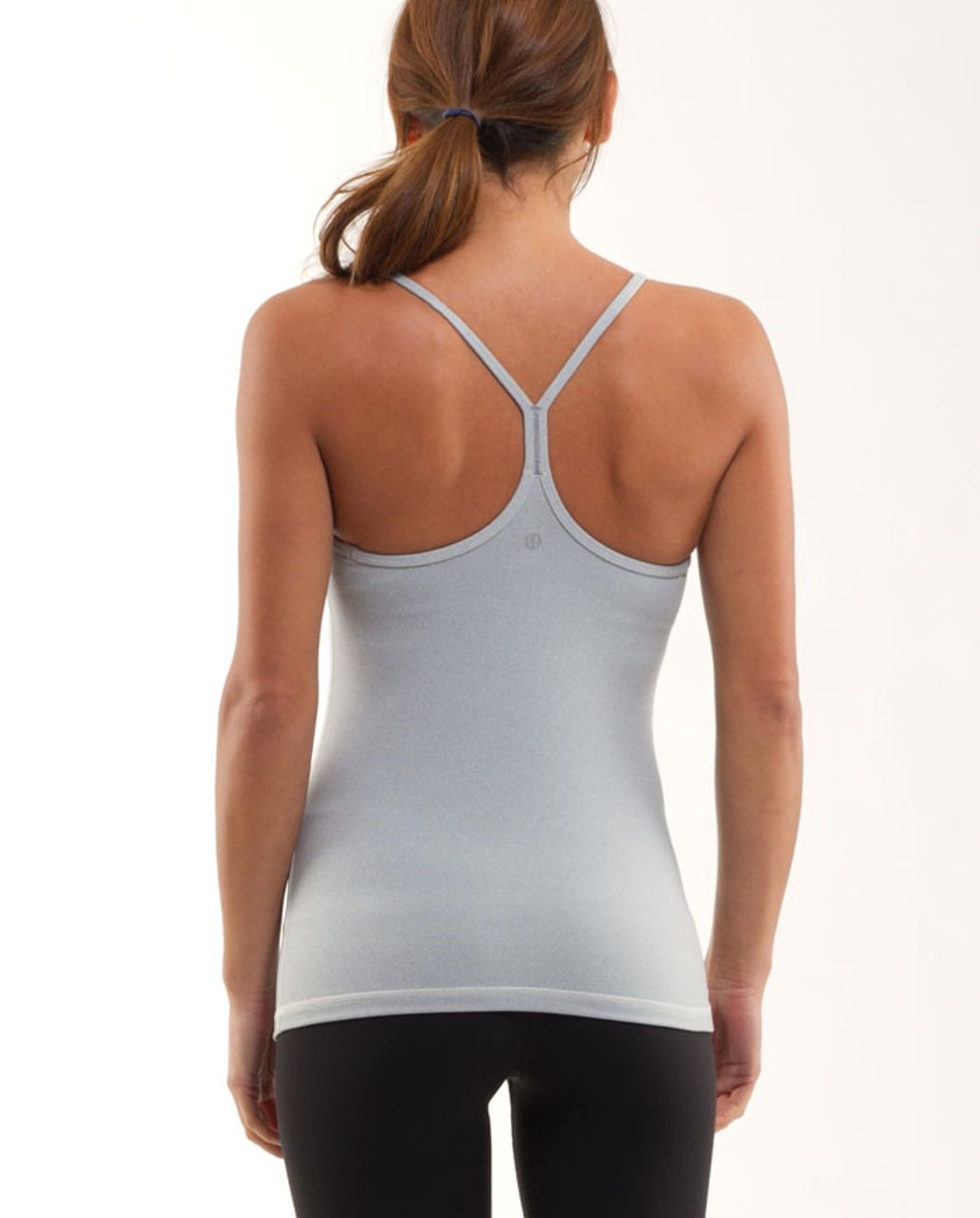 Lululemon Power Y Tank - Ghost Blurred Grey Mini Stripe