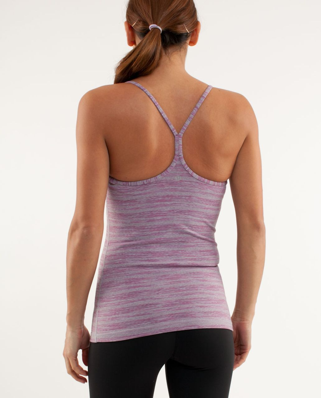 Lululemon Power Y Tank - Muted Mauve Stripes Galore