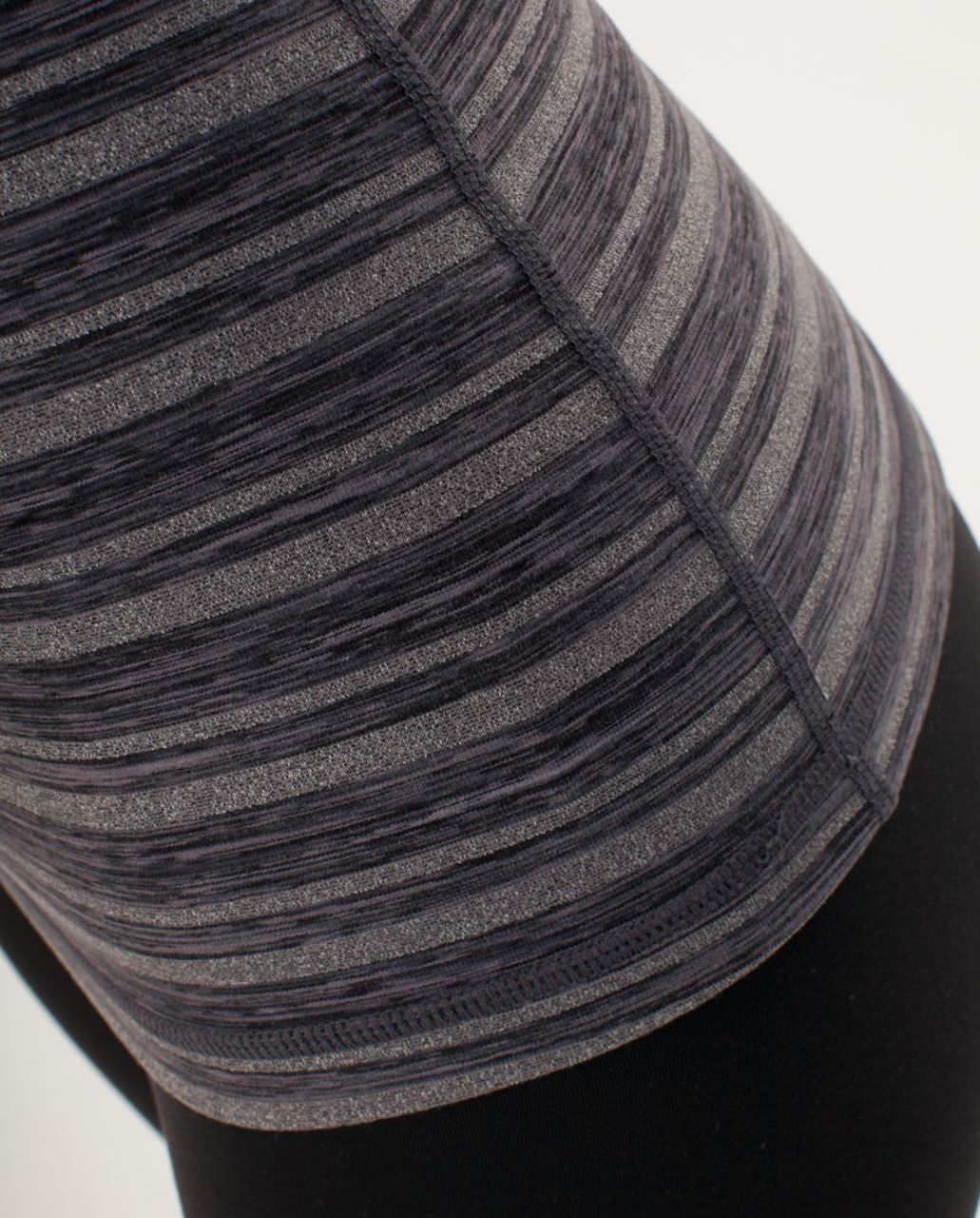 Lululemon Power Y Tank - Black Stripes Galore