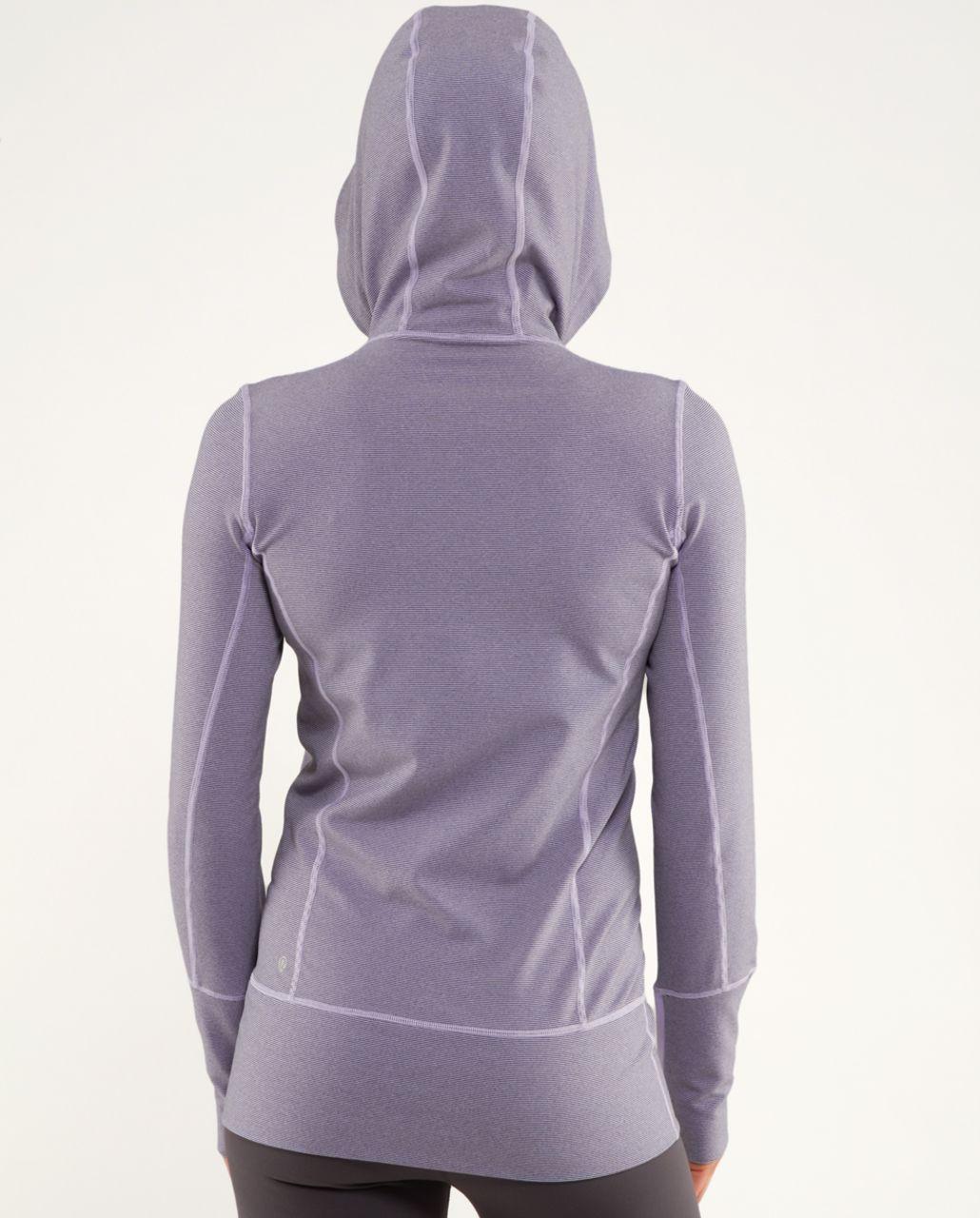 Lululemon Stride Jacket *Brushed - Lilac Heathered Coal Wee Stripe /  Lilac