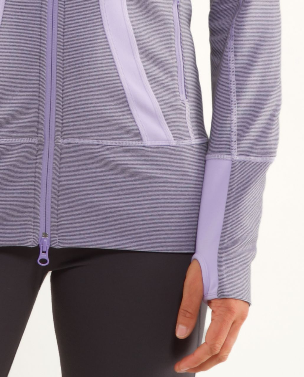 Lululemon Stride Jacket *Brushed - Lilac Heathered Coal Wee Stripe /  Lilac