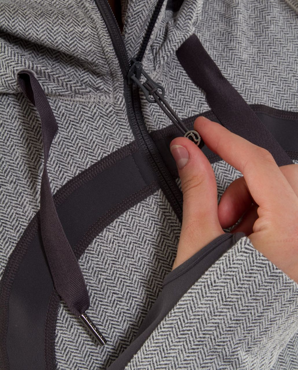 Lululemon Stride Jacket *Brushed - Ghost Heathered Coal Herringbone /  Coal