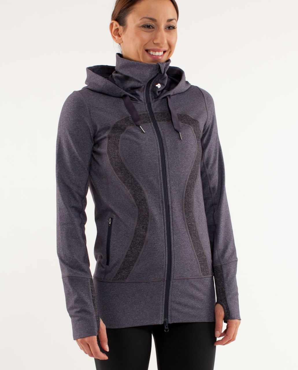 Lululemon Stride Jacket *Brushed - Black Swan Heathered Black Herringbone /  Black Swan
