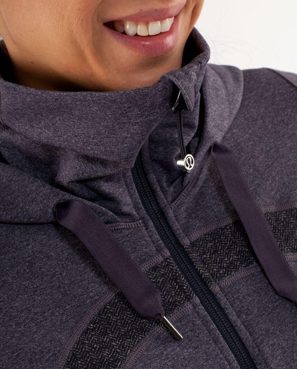 Lululemon Stride Jacket *Brushed - Black Swan Heathered Black Herringbone /  Black Swan