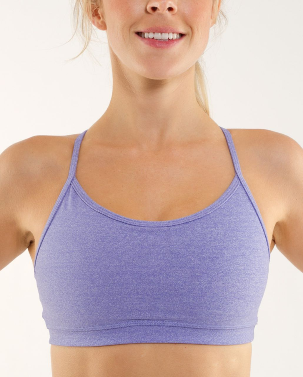 Lululemon Flow Y Bra IV - Heathered Persian Purple /  Persian Purple