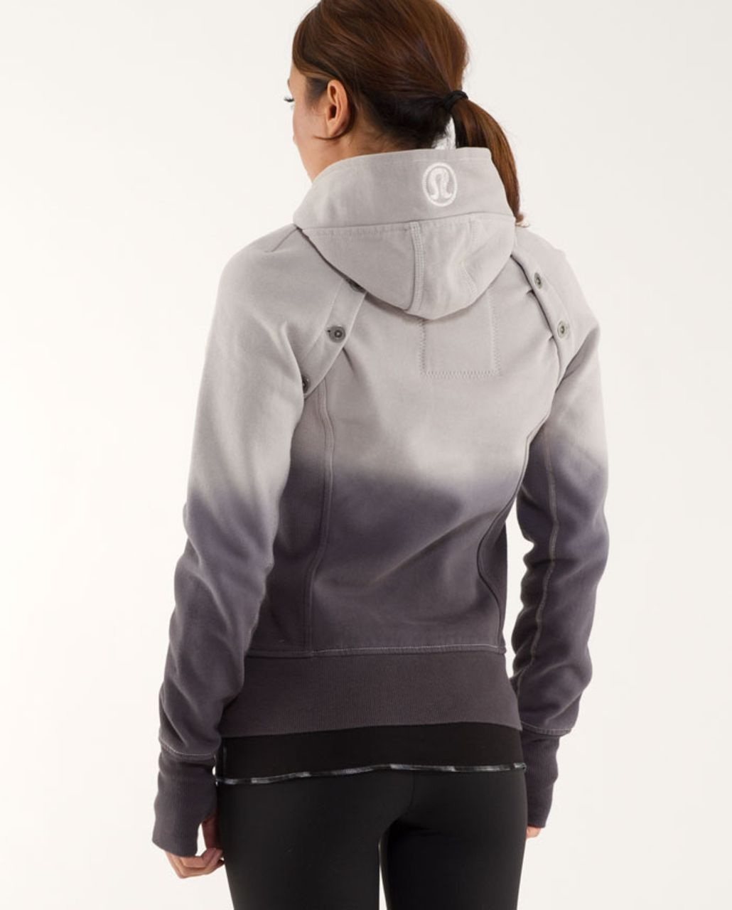 Lululemon Scuba Hoodie *Detachable Sleeves - Pigeon /  Ghost Nesting Black Bird Print