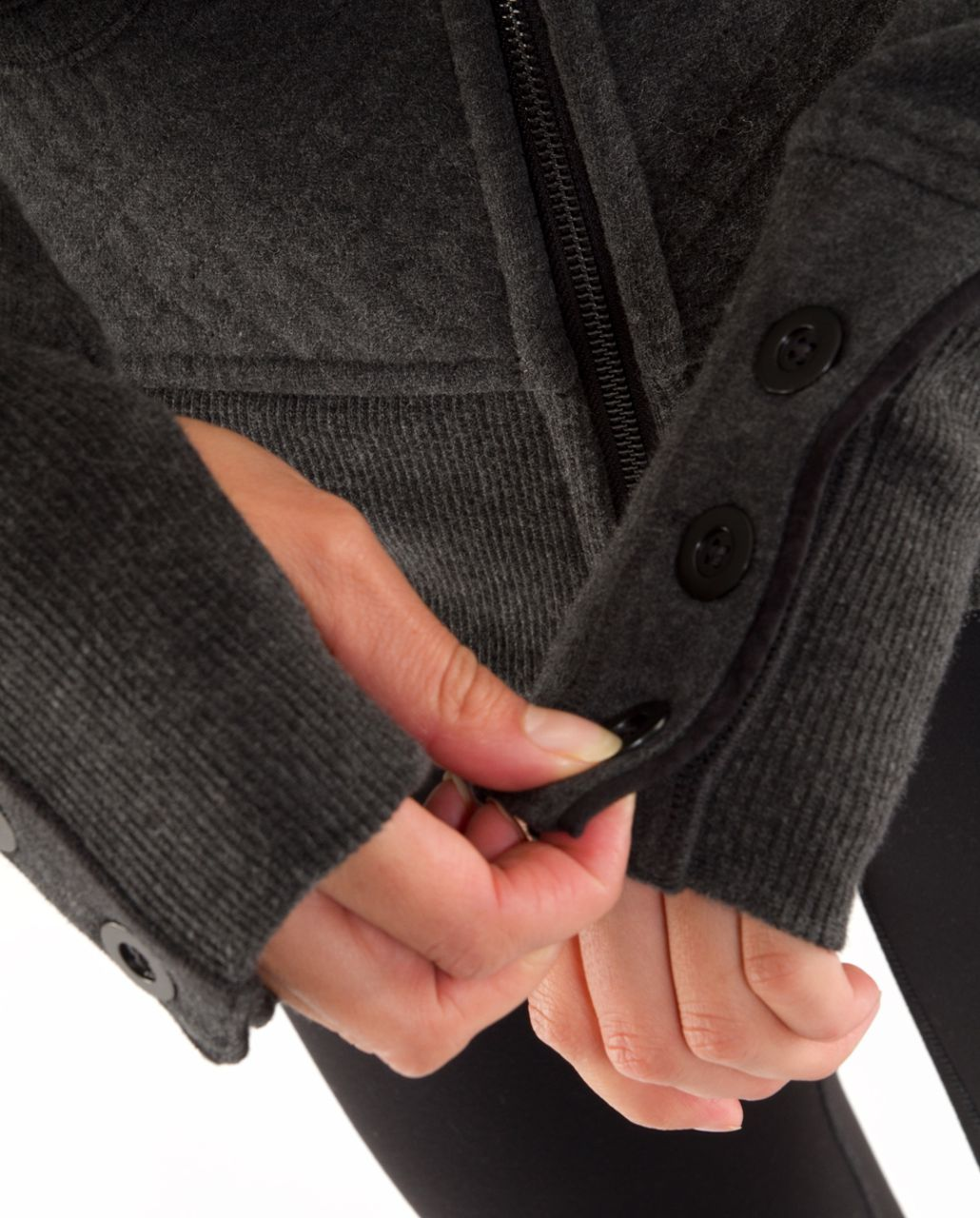 Lululemon Scuba Hoodie *Detachable Sleeves - Heathered Deep Coal /  Deep Coal