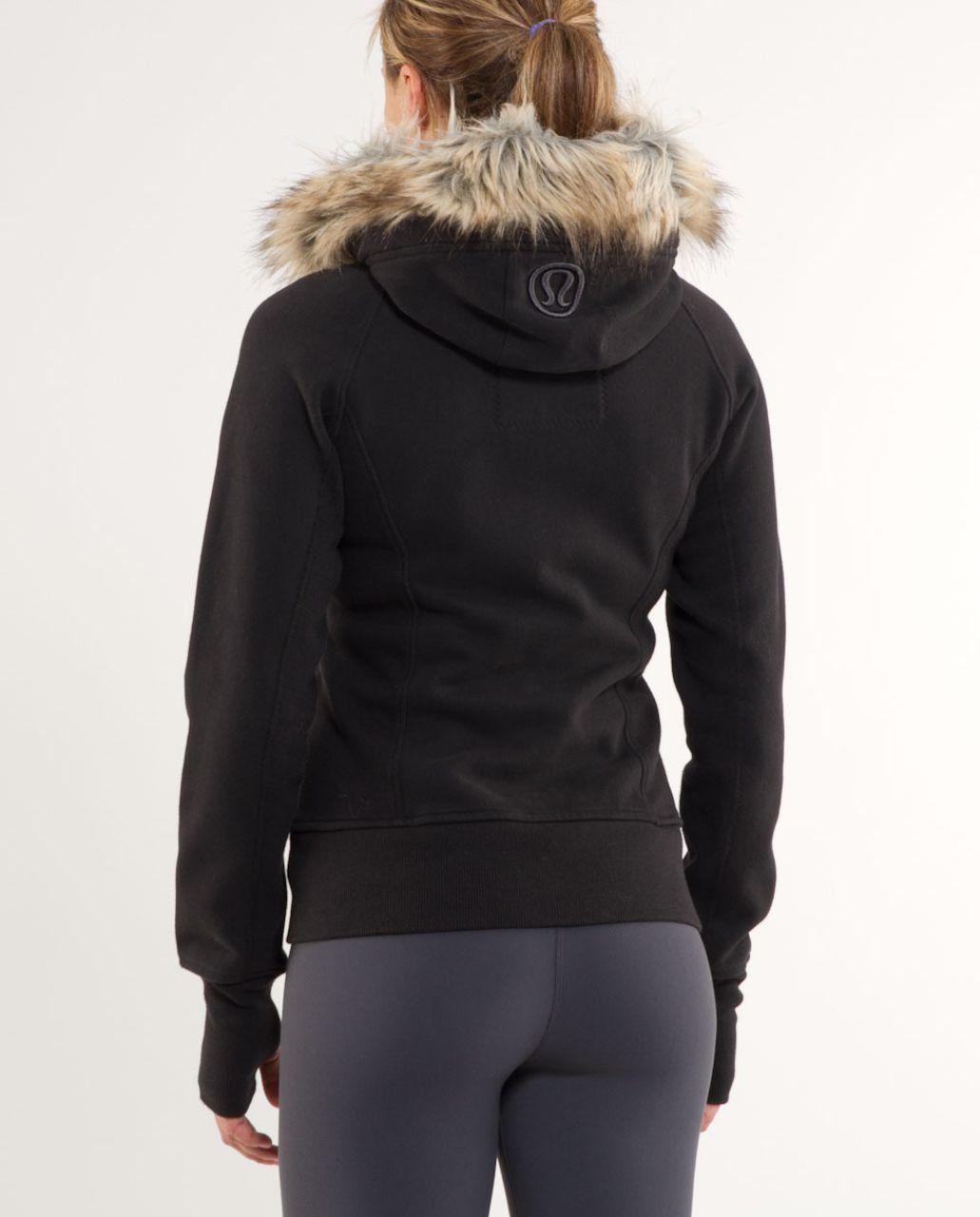 Lululemon Scuba Hoodie *Fur Hood - Black