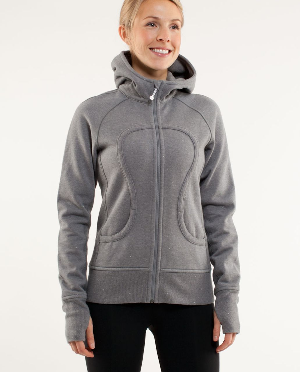for sale how to choose los angeles Lululemon Scuba Hoodie *Sparkle - Heathered Blurred Grey / Blurred Grey