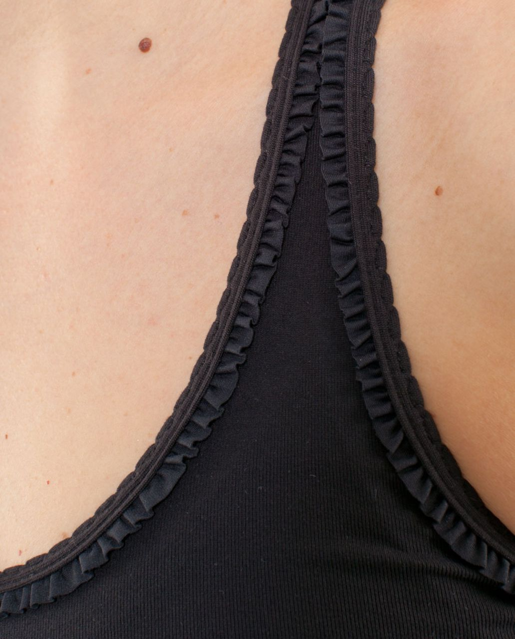 Lululemon Cool Racerback *Ruffle (First Release) - Black