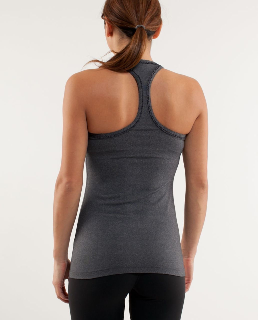 Lululemon Cool Racerback *Ruffle - Heathered Coal