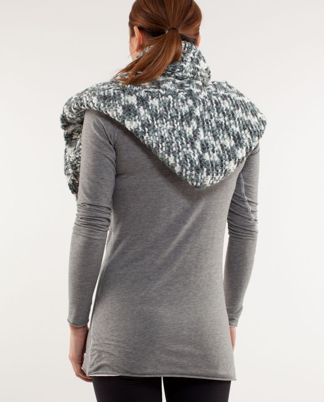 Lululemon Hickey Hider - Coal Blurred Grey White Space Dye