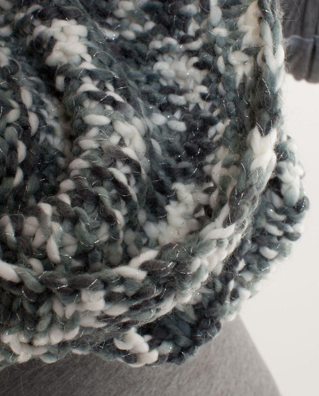 Lululemon Hickey Hider - Coal Blurred Grey White Space Dye