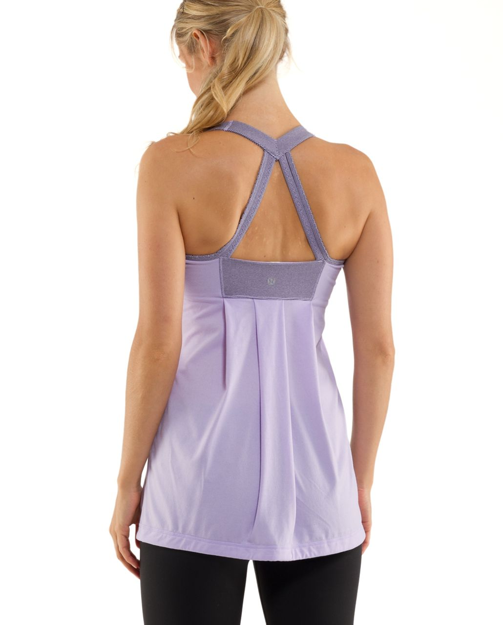 Lululemon Power Technique Tank - Lilac /  Lilac Heathered Coal Wee Stripe