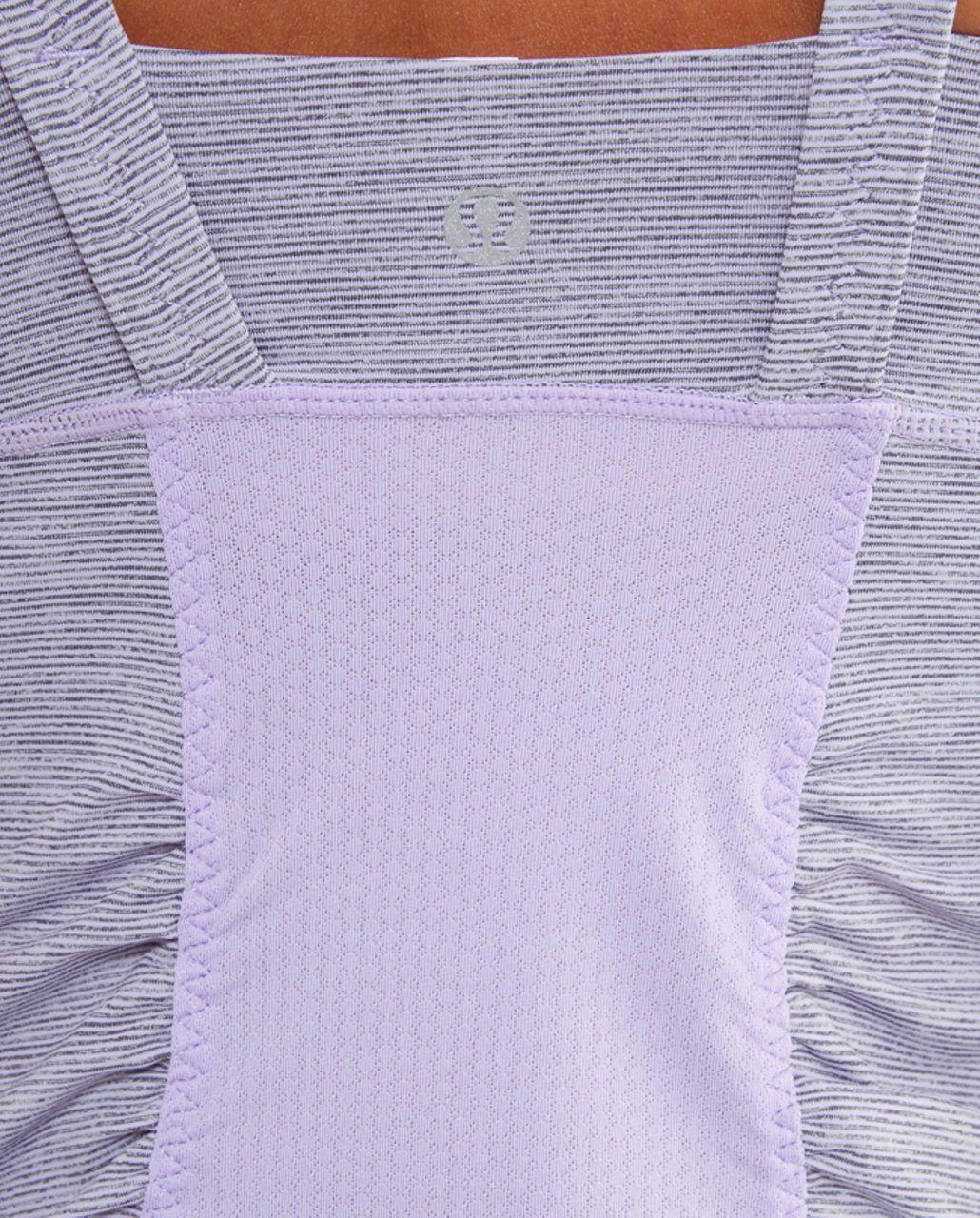 Lululemon Active Strength Tank - Lilac Heathered Coal Wee Stripe /  Lilac