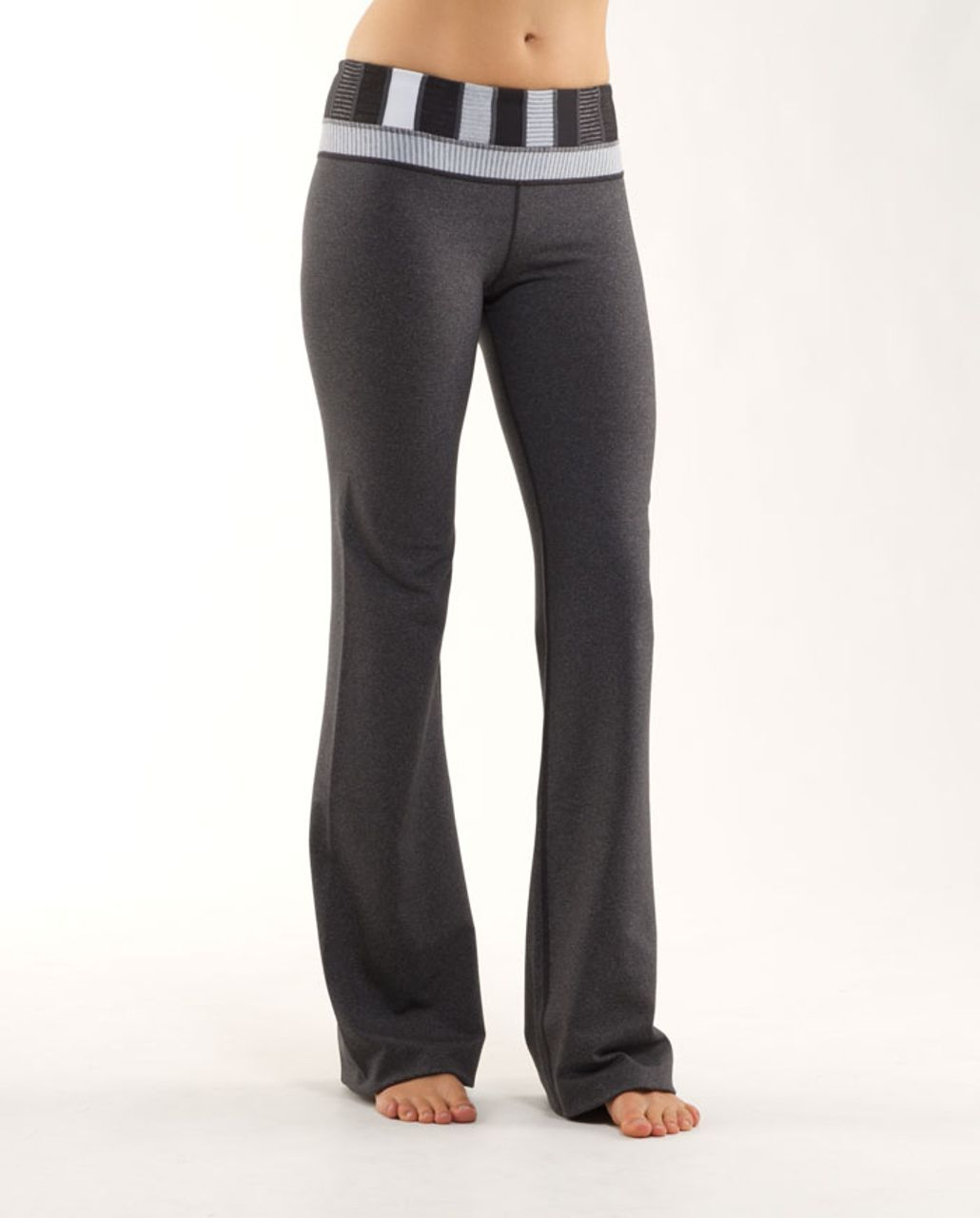 Lululemon Groove Pant (Tall) - Heathered Deep Coal /  Quilting Winter 4 /  White Heathered Blurred Grey Mini Check