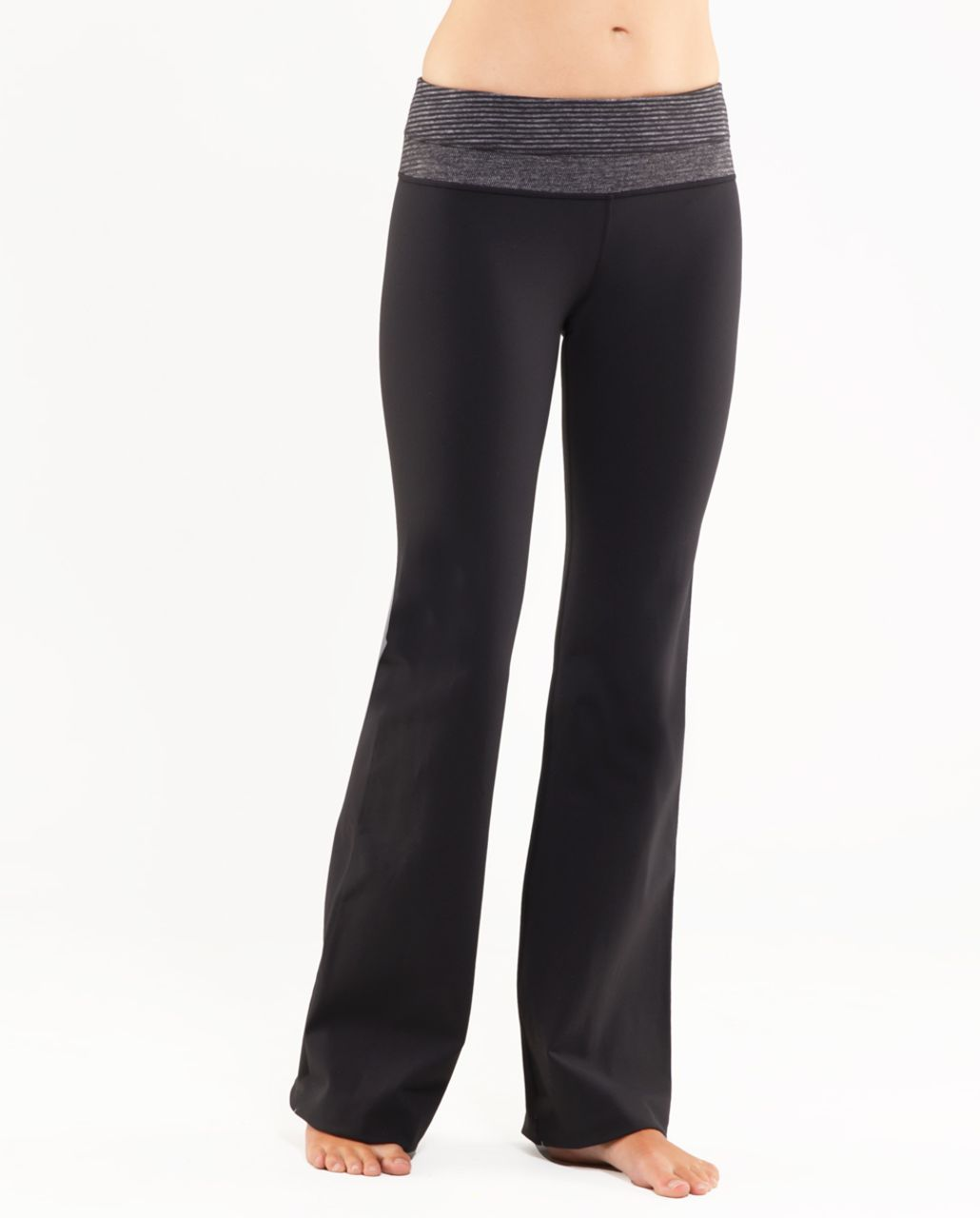 Lululemon Groove Pant (Tall) - Black /  Black Heathered Coal Mini Check