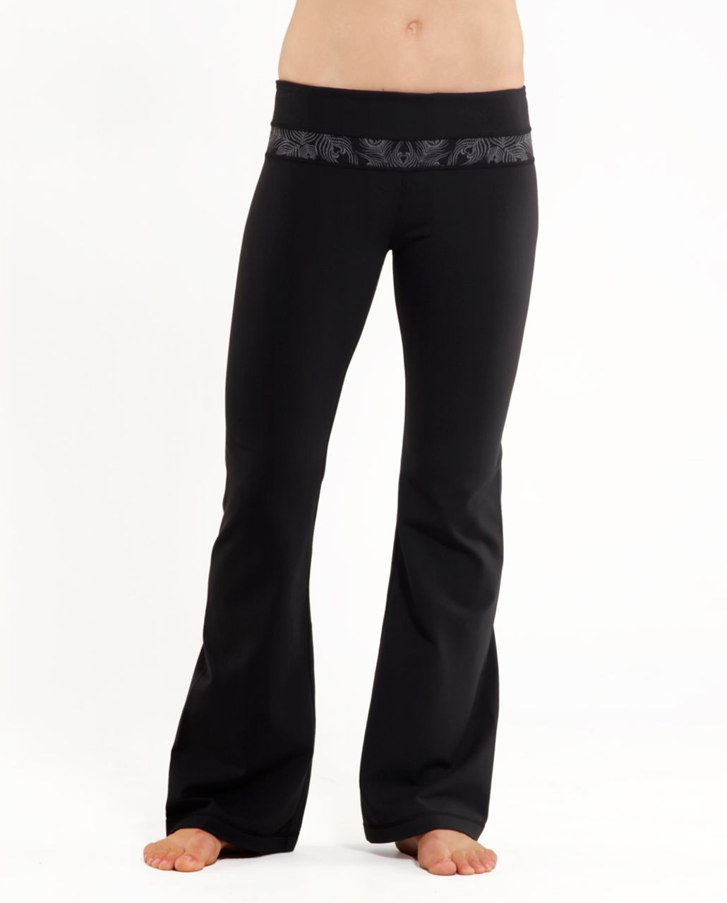 Lululemon Groove Pant (Tall) - Black /  Silver Peacock Lace Reflective /  Black Space Dye