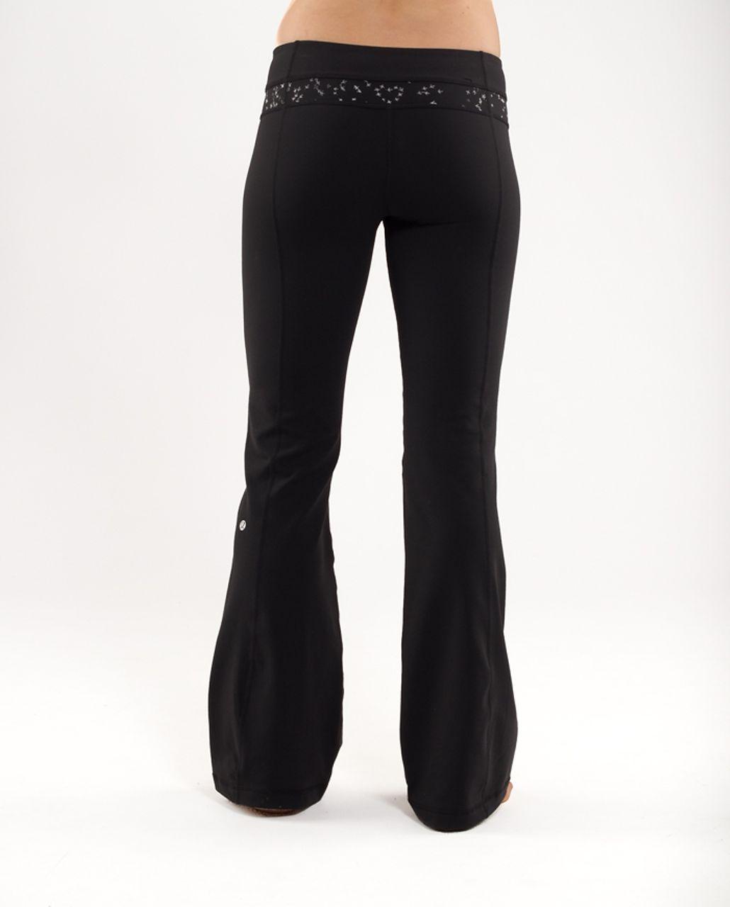 05d1022b0 Lululemon Groove Pant (Tall) - Black   Silver Pitter Patter Reflective -  lulu fanatics