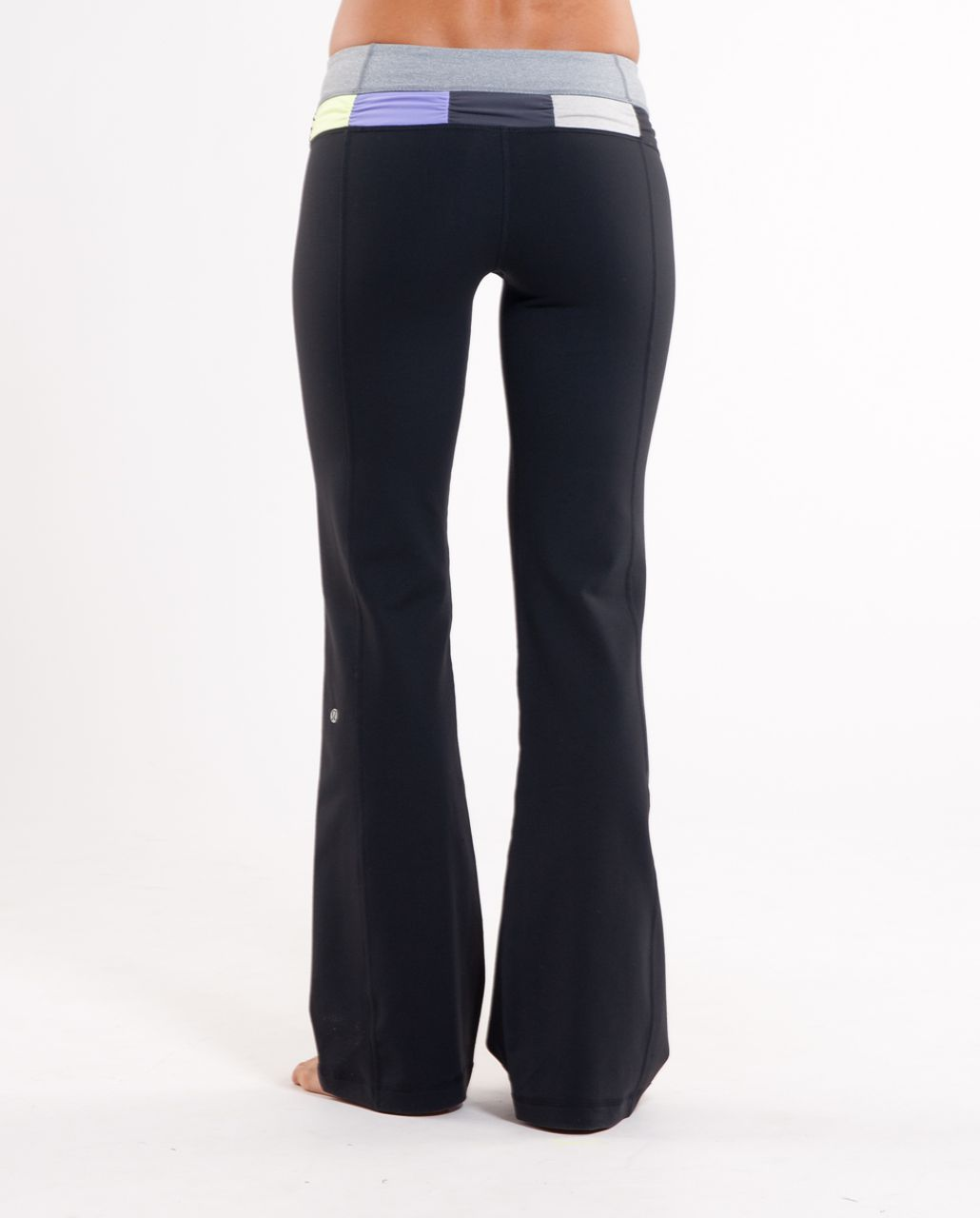 Lululemon Groove Pant (Tall) - Black /  Heathered Blurred Grey /  Quilt Summer 10