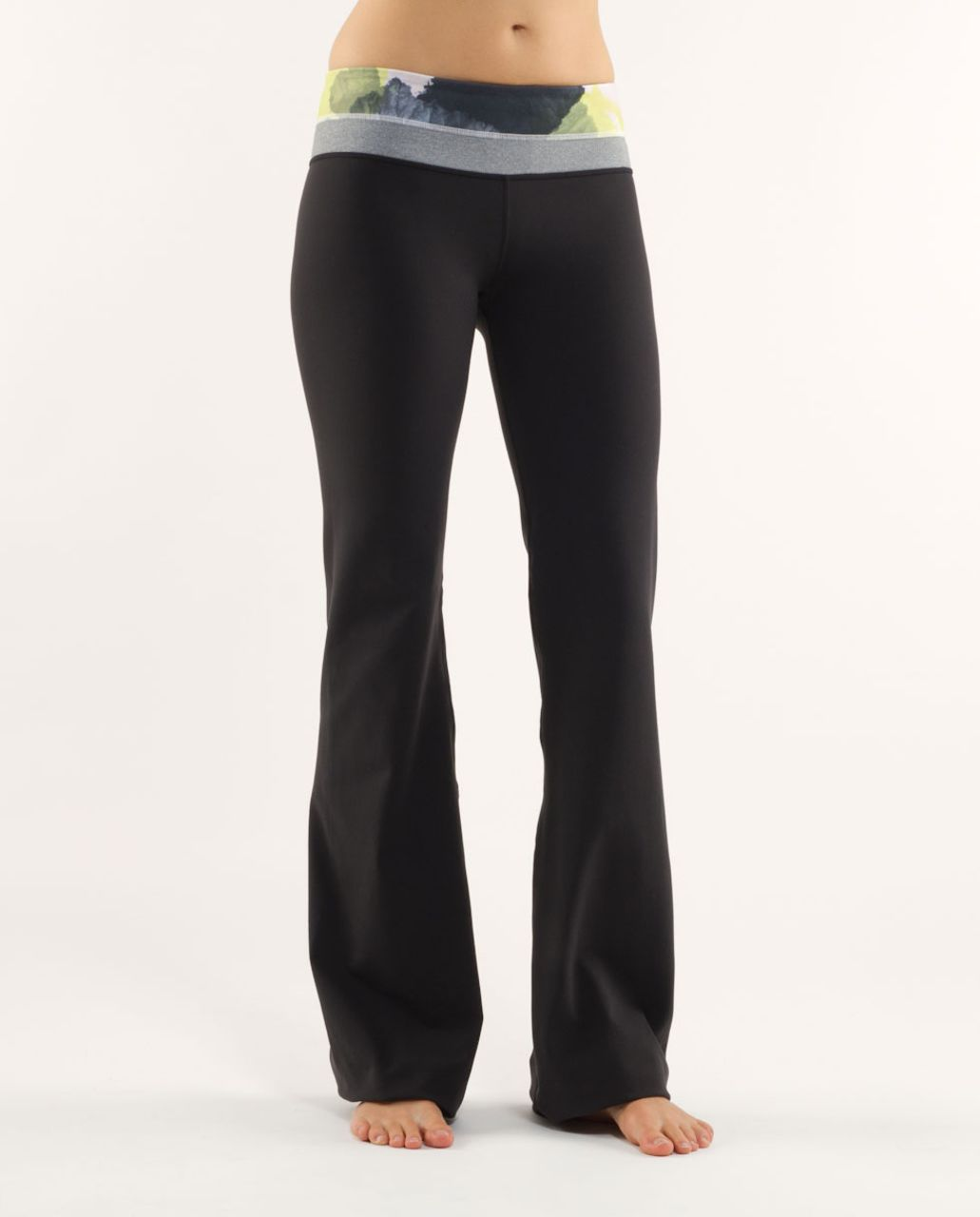 Lululemon Groove Pant (Tall) - Black /  Black Citron Tinted Canvas Super /  Heathered Blurred Grey
