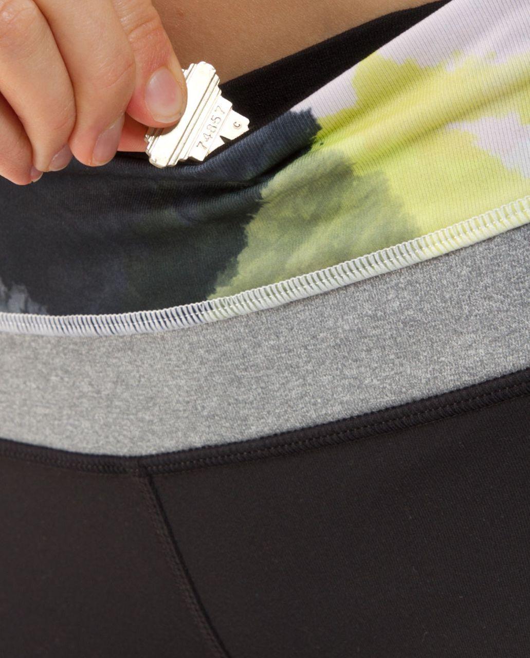 Lululemon Groove Pant (Tall) - Black /  Black Citron Tinted Canvas Super /  Heathered Blurred Grey