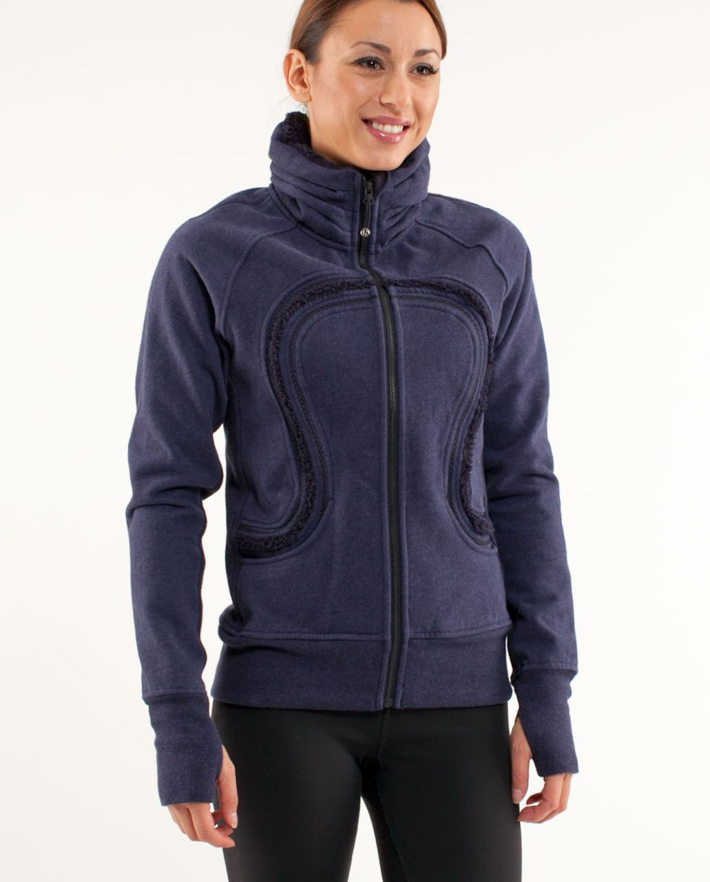 Lululemon Cuddle Up Jacket - Heathered Black Swan