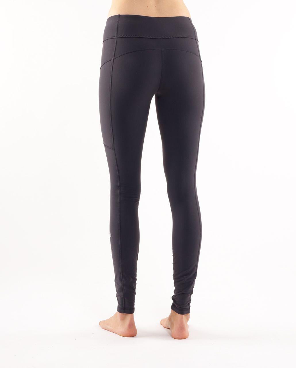 Lululemon Run:  For It Tight - Deep Coal /  White Heathered Blurred Grey Classic Stripe