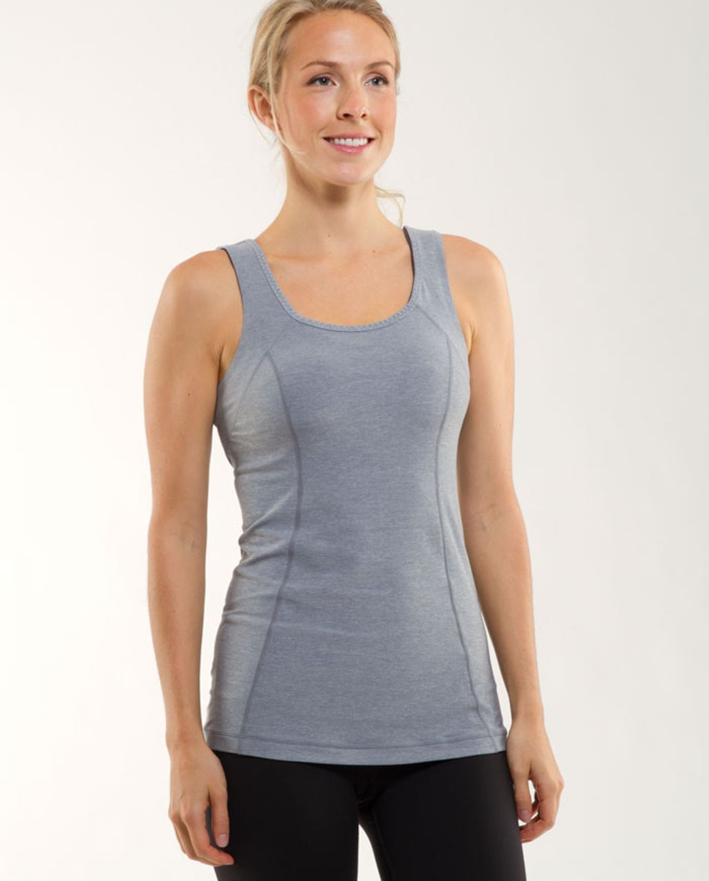 Lululemon Run Free Tank - Heathered Blurred Grey