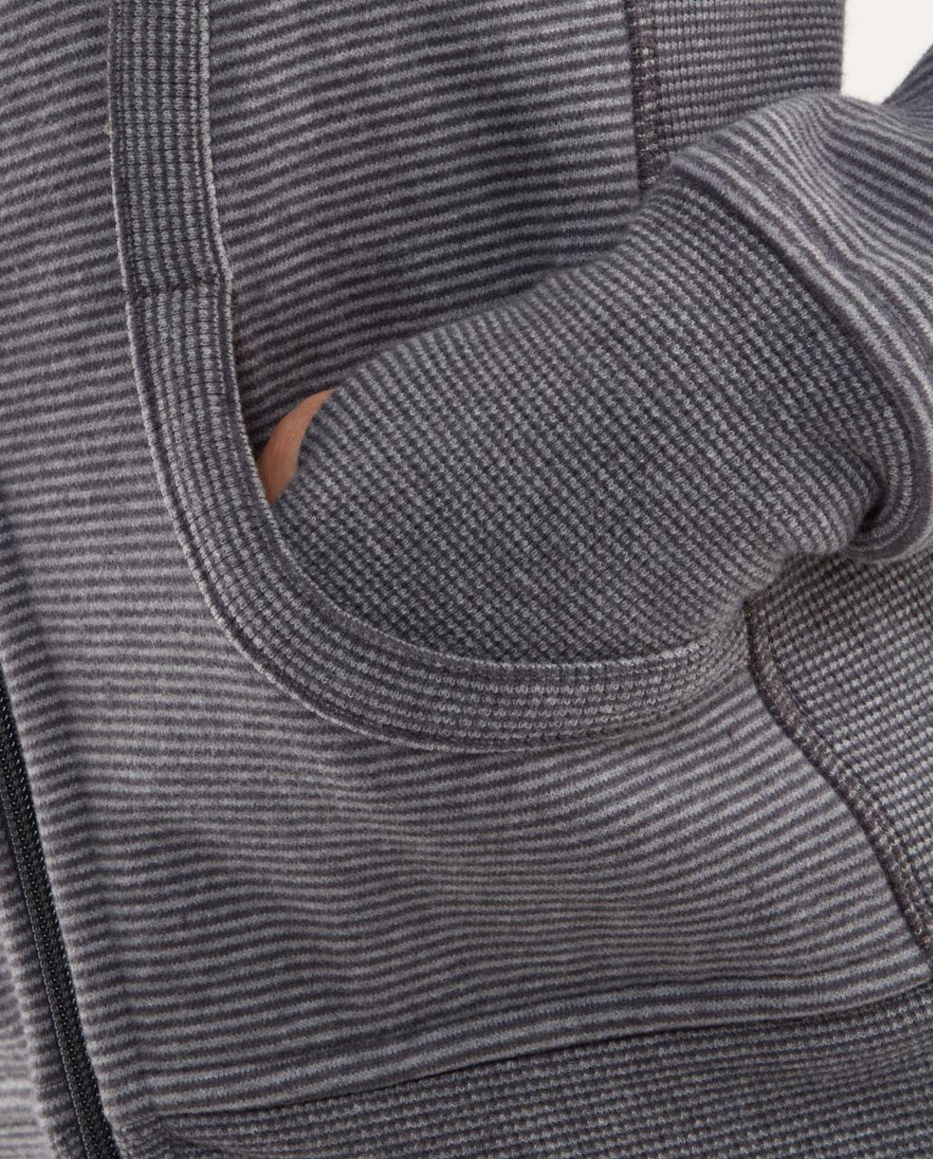 Lululemon Scuba Hoodie *Stripe - Coal /  Classic Sport Grey