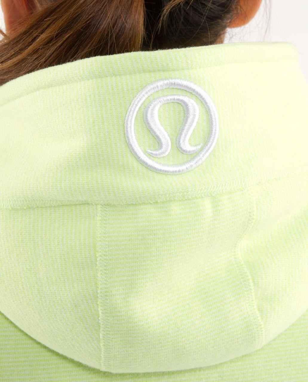 Lululemon Scuba Hoodie *Stripe - Sunny Lime /  Sunny Lime Microstripe