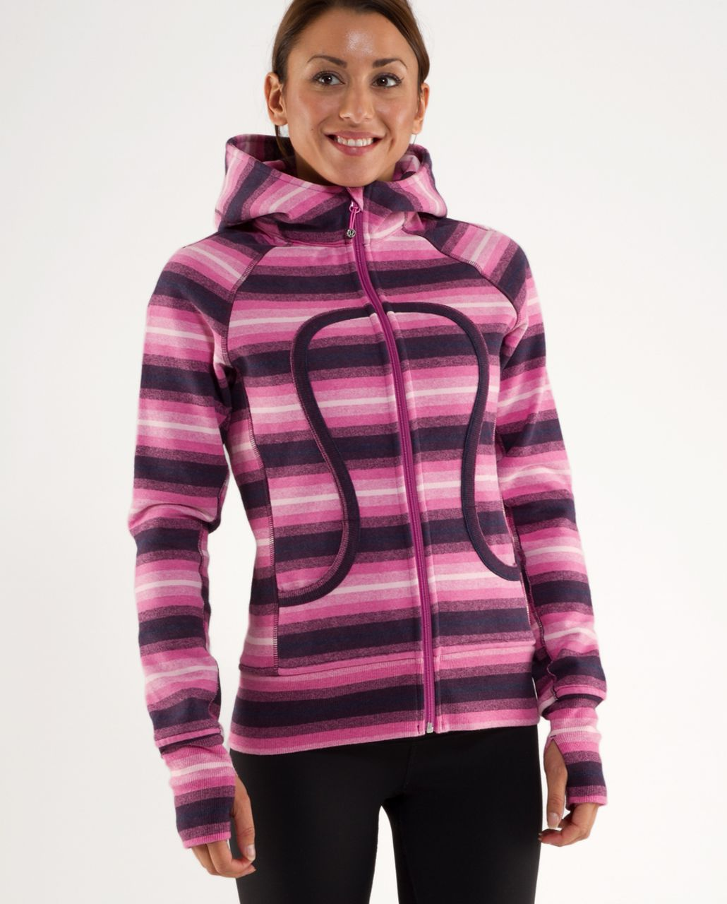 Lululemon Scuba Hoodie *Stripe - Pinks Ombre Stripes /  Smoky Rose