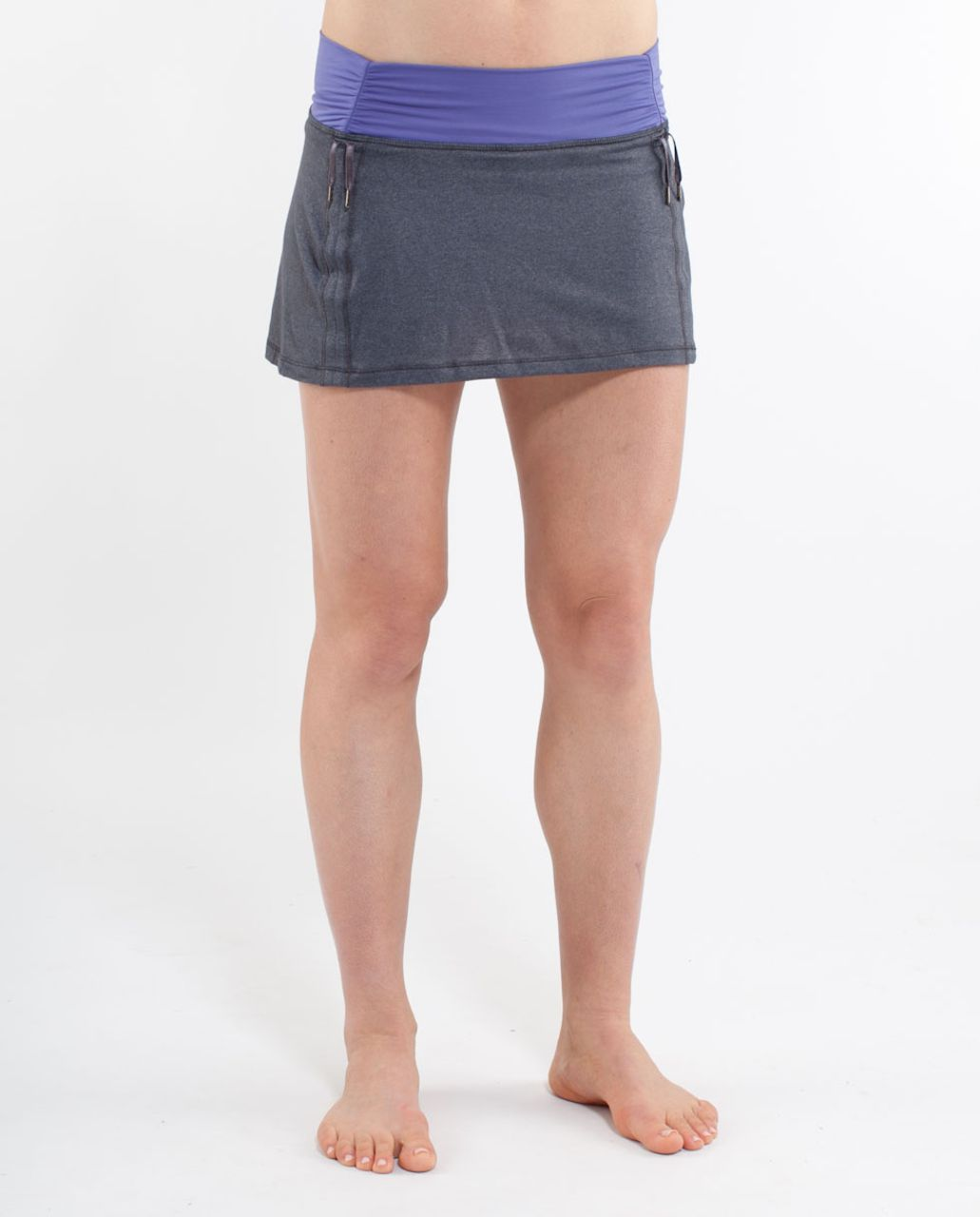 Lululemon Hot 'N Sweaty Skirt - Coal /  Persian Purple