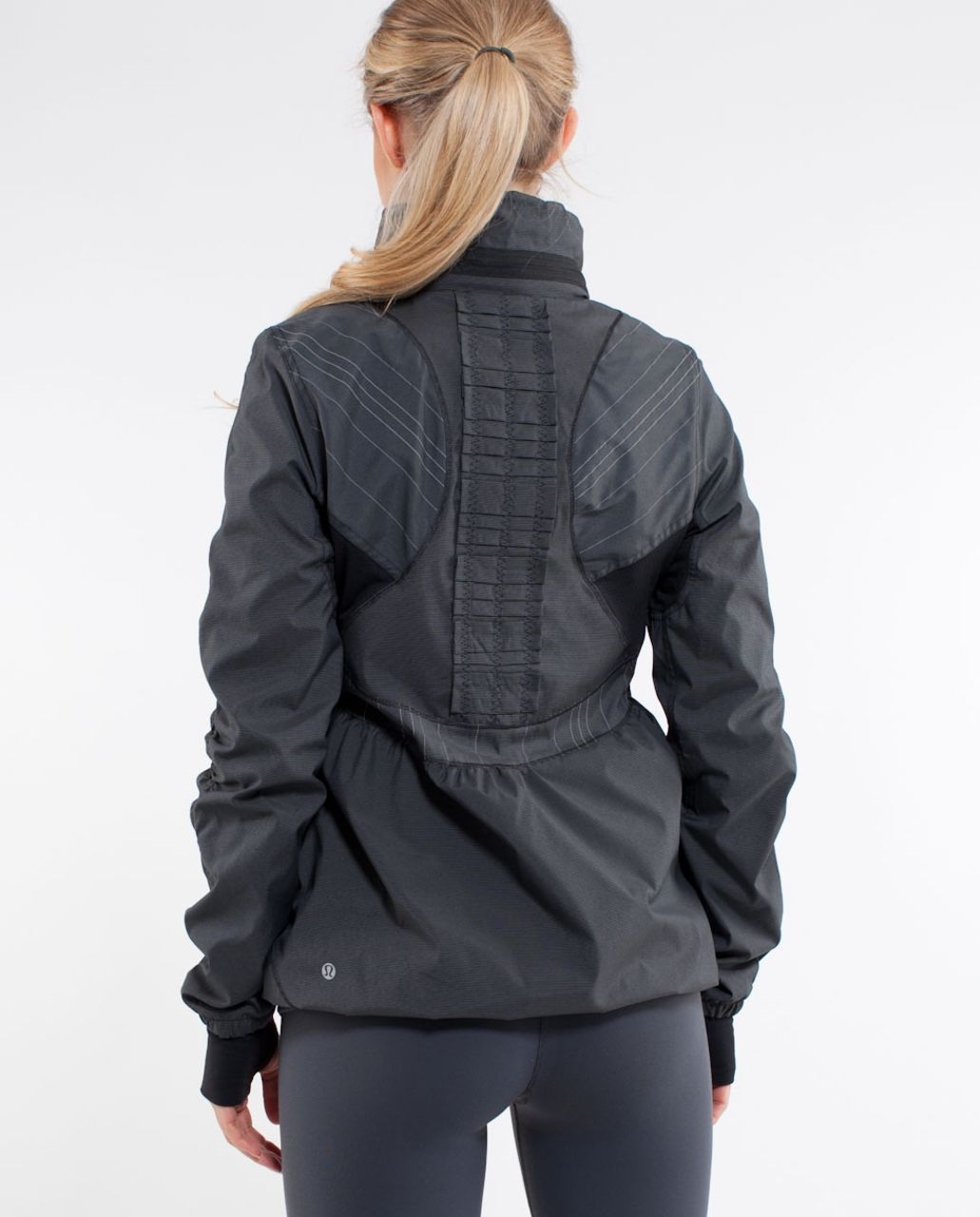 Lululemon Run:  Hustle Jacket - Black Microstripe