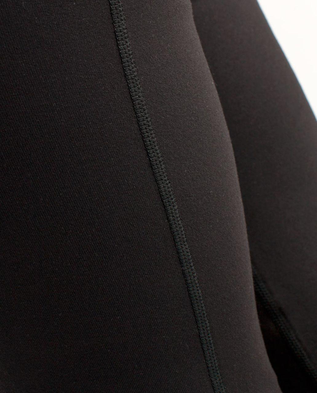 Lululemon Groove Crop - Black /  White Black Glacier Lace /  White Black Glacier Lace