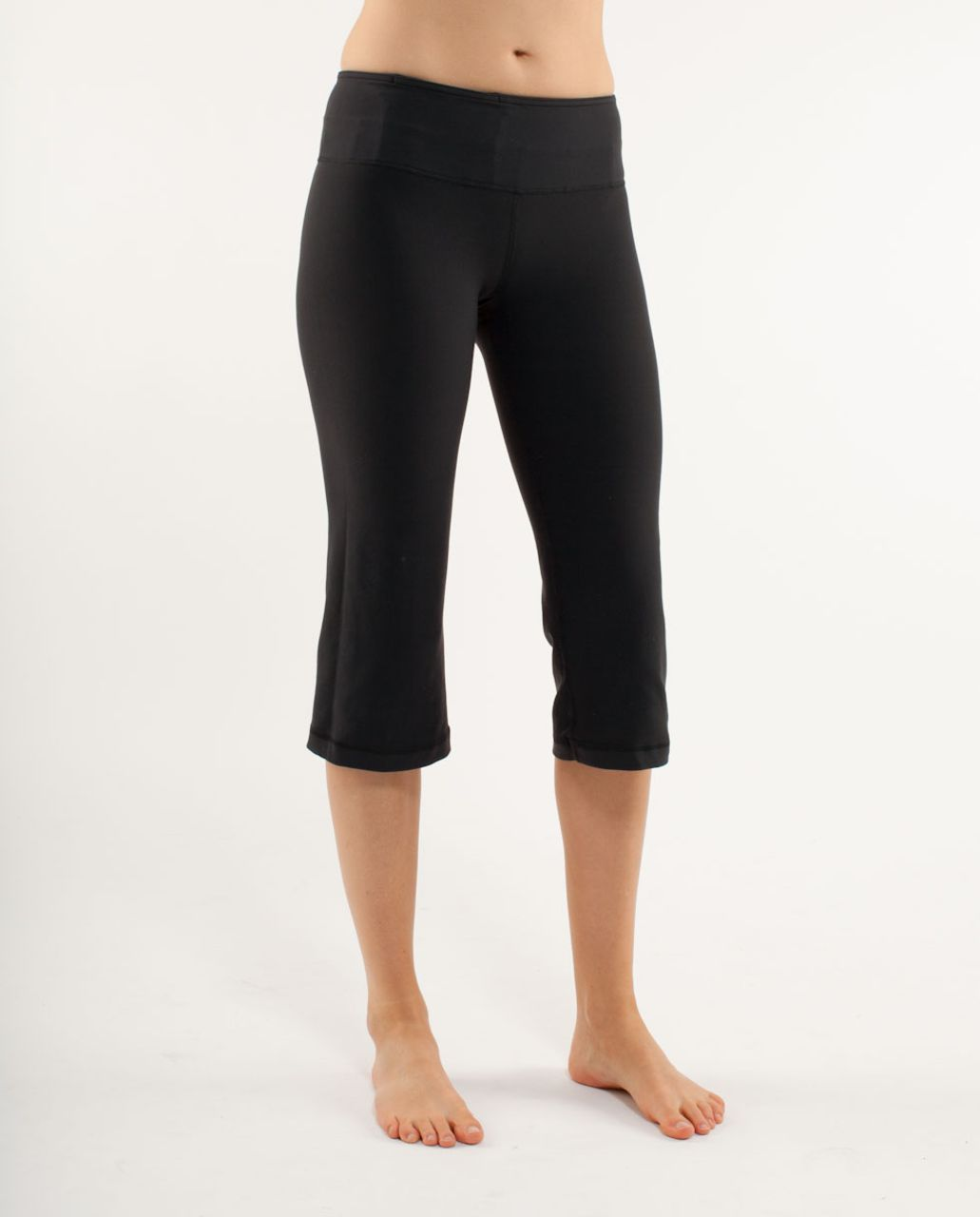 Lululemon Groove Crop - Black /  Heathered Black /  Quilting Winter 6
