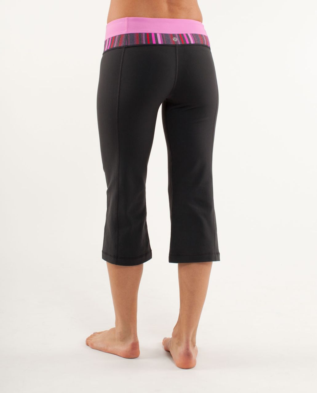 Lululemon Groove Crop - Black /  Elevation Space Dye
