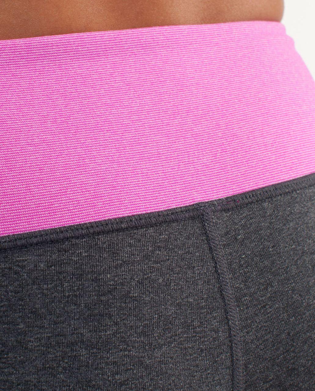 Lululemon Boogie Short - Heathered Coal /  Paris Pink White Microstripe /  Paris Pink