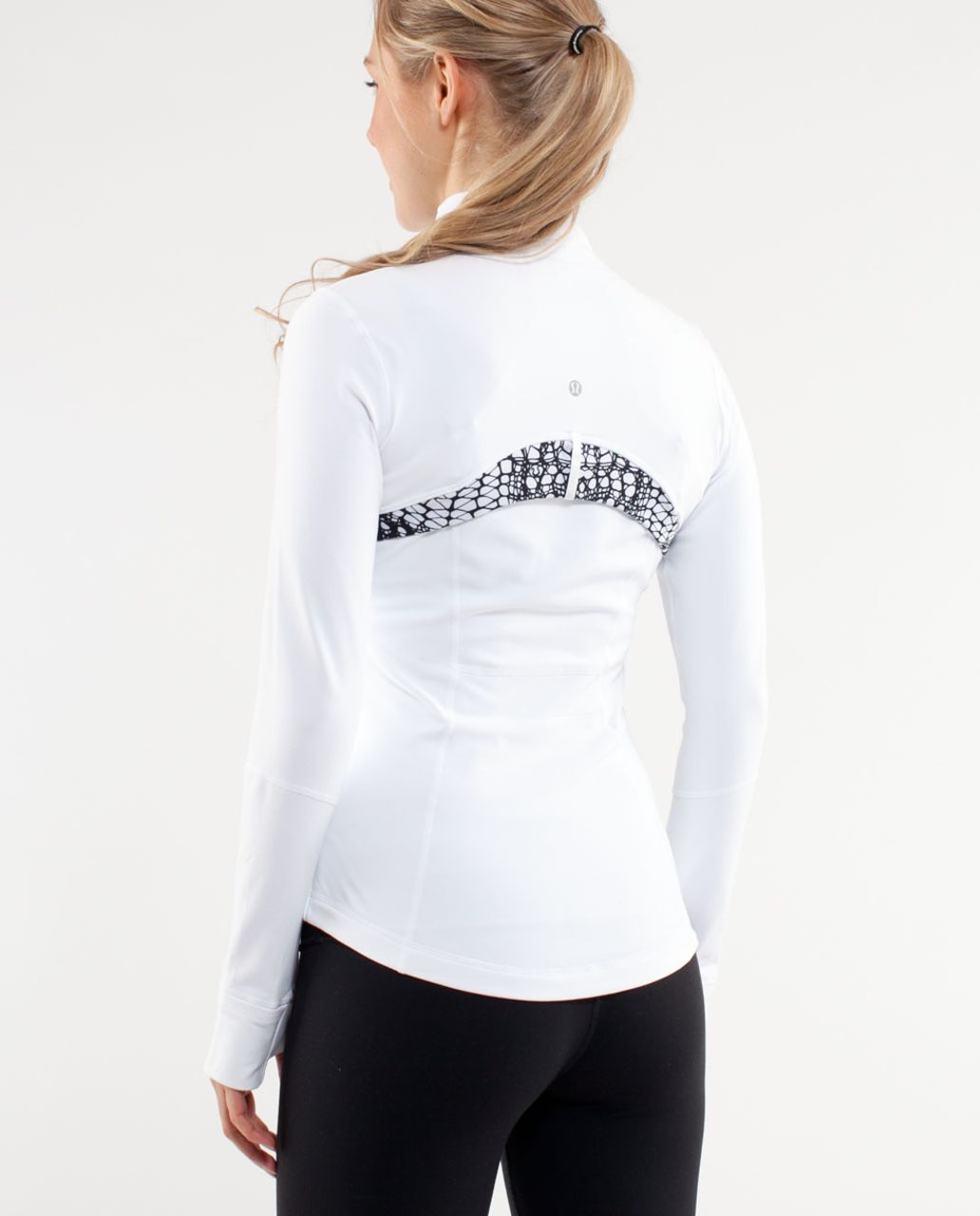 Lululemon Define Jacket *Brushed - White /  White Black Glacier Lace