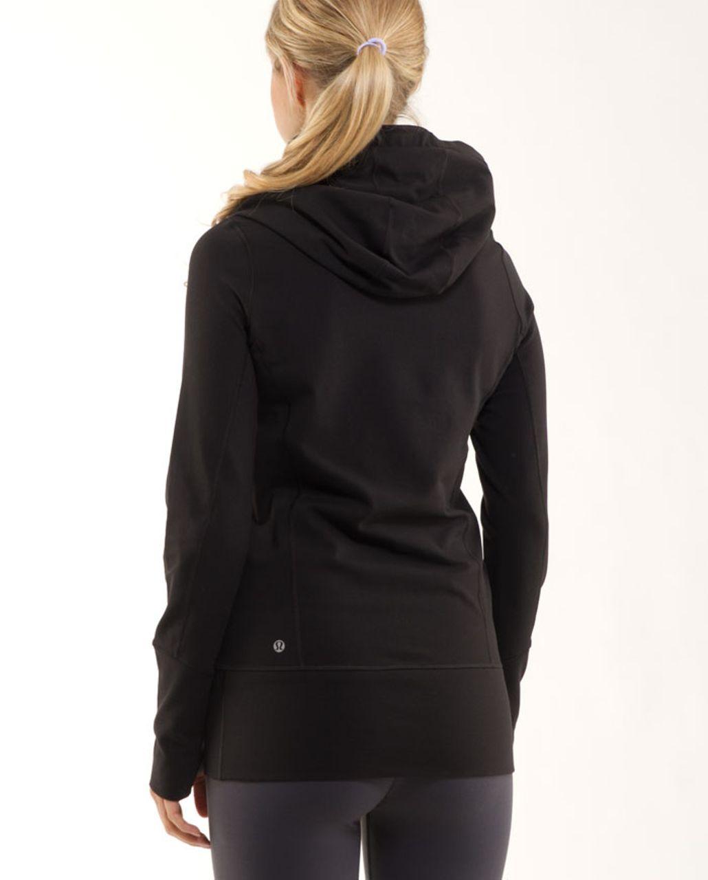 Lululemon Stride Jacket *Brushed - Black /  White Coal Tinted Canvas Super