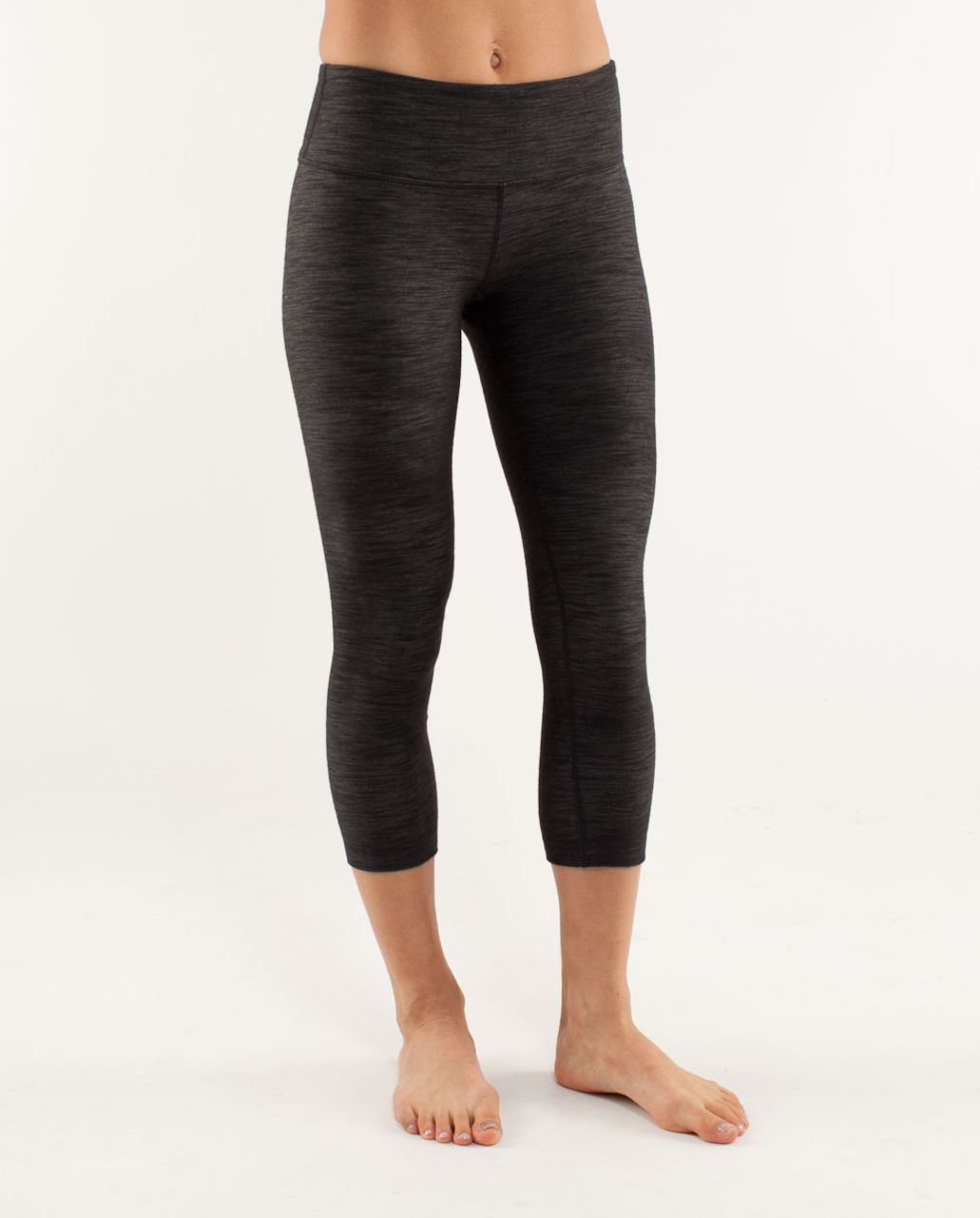 Lululemon Wunder Under Crop*Denim - Black Deep Coal Slub Denim