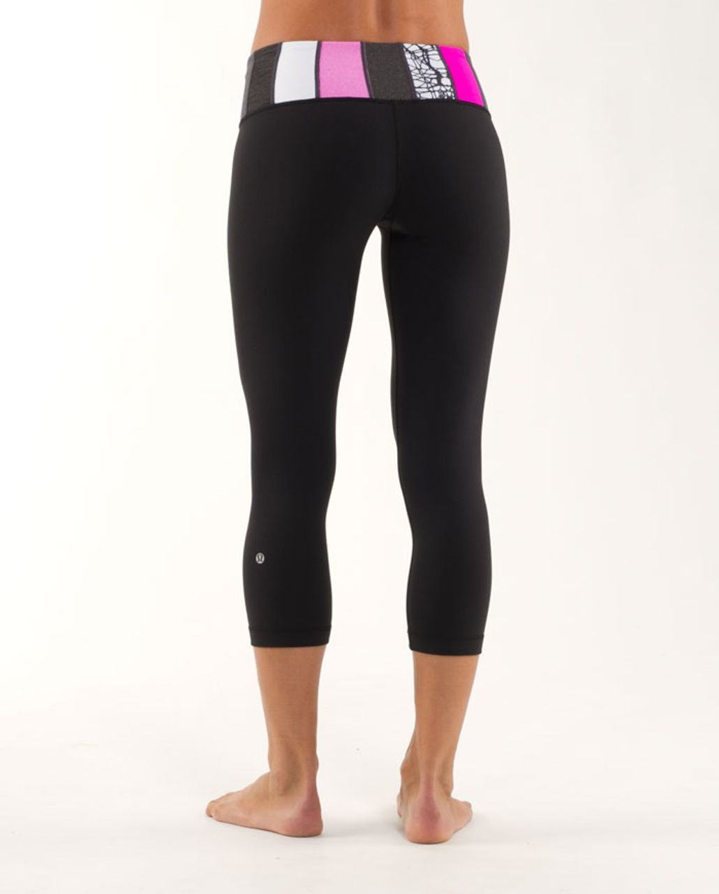 Lululemon Wunder Under Crop *Reversible - Black /  Quilting Winter 16