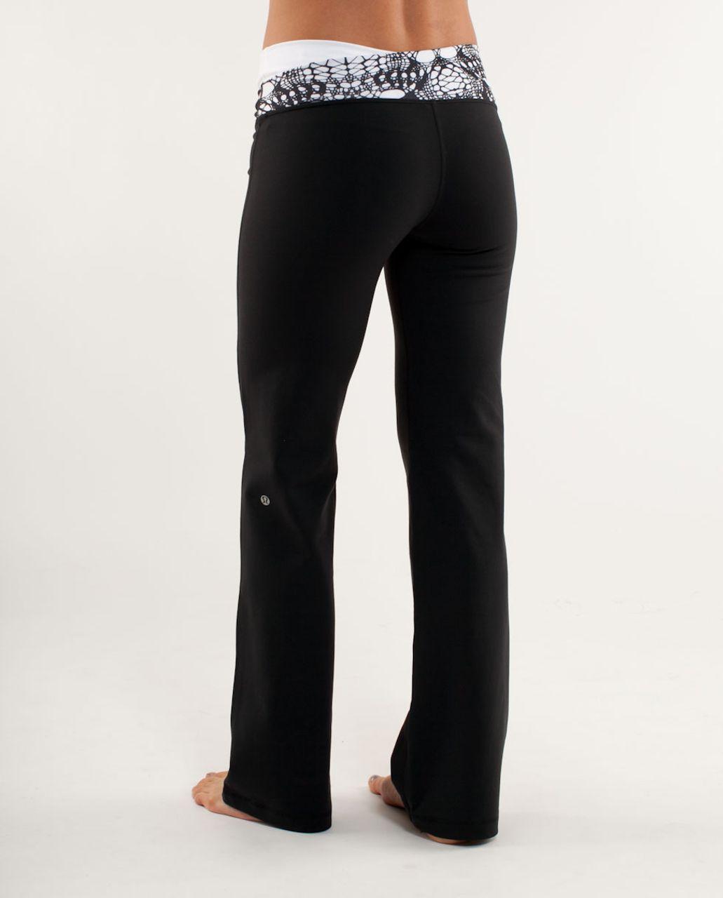 Lululemon Astro Pant (Tall) - Black /  Black Glacier Lace Embossed /  White Black Glacier Lace