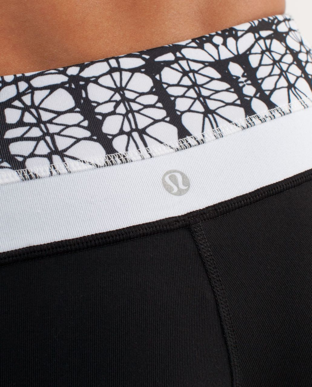 Lululemon Groove Pant (Regular) - Black /  White Black Glacier Lace /  White Black Glacier Lace